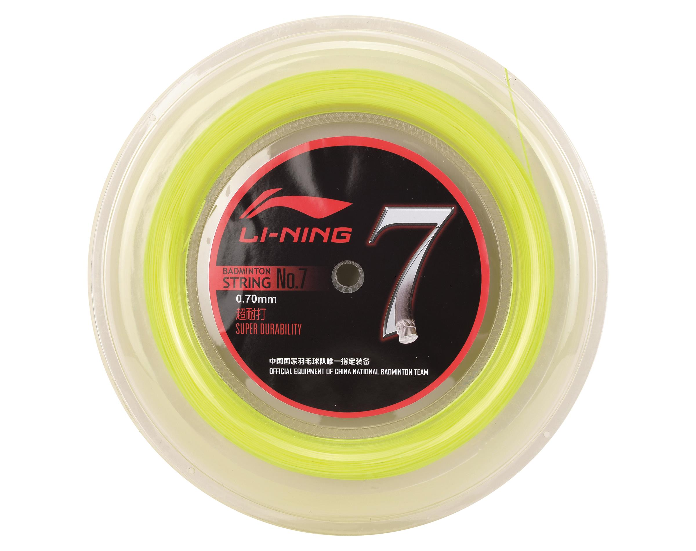 Li-Ning Saite Bespannung reel string No.7 Badmintonstring 200m Rolle Rolle 200m Bespannung f5ca69
