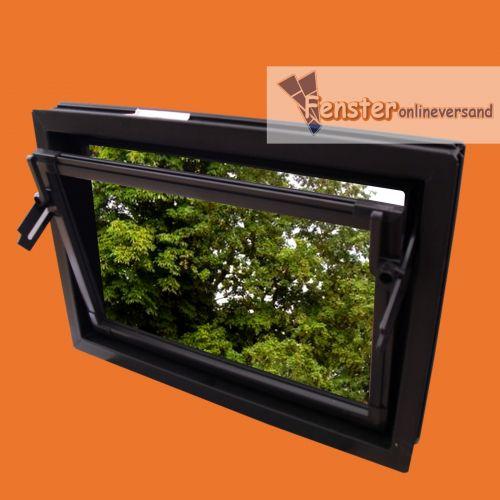 Kipp kellerfenster kunststoff dickglas 5 mm braun ma anfertigung neu ebay - Kellerfenster mit katzenklappe ...