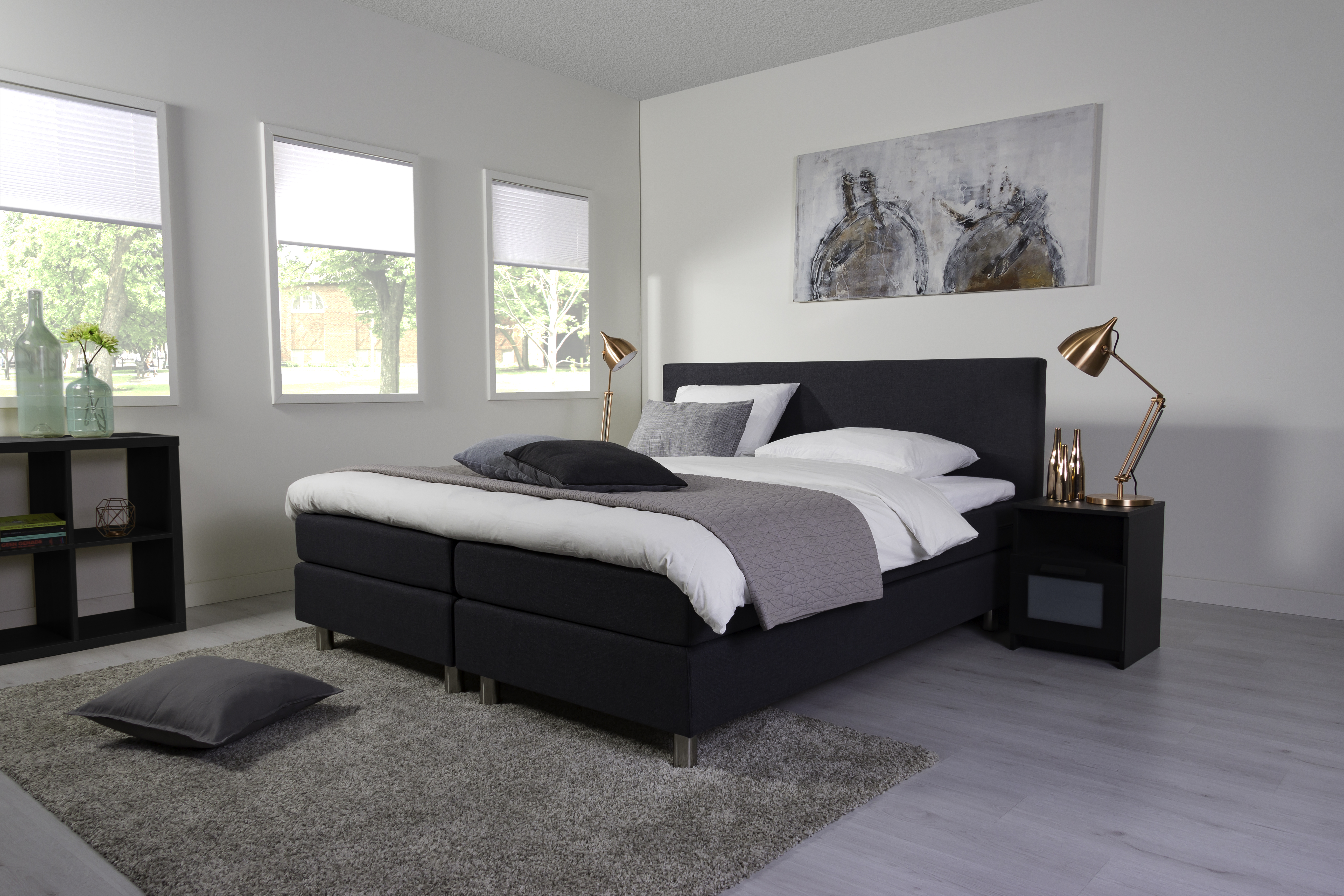 boxspringbett alpine farbe anthrazit elektrisch verstellbar ebay. Black Bedroom Furniture Sets. Home Design Ideas