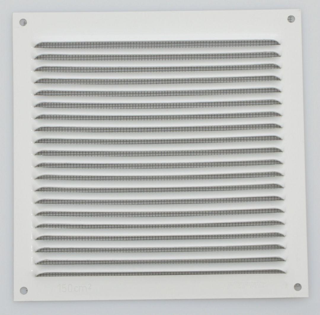 wetterschutzgitter lüftungsgitter aluminium weiß 15 x 15 cm mit
