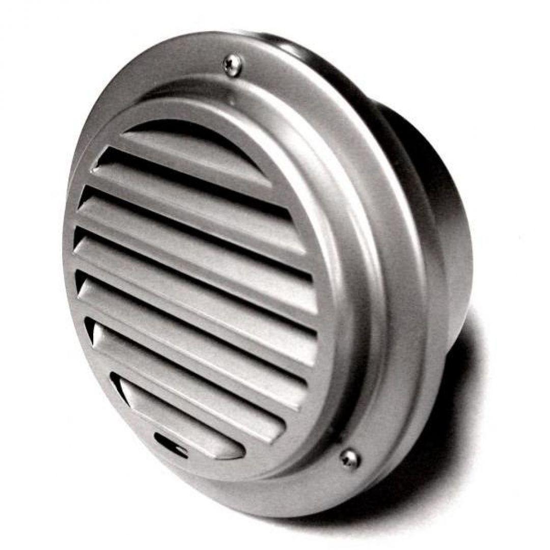 Lamellengitter Edelstahl poliert Wetterschutzgitter L/üftungsgitter DN 150 mm