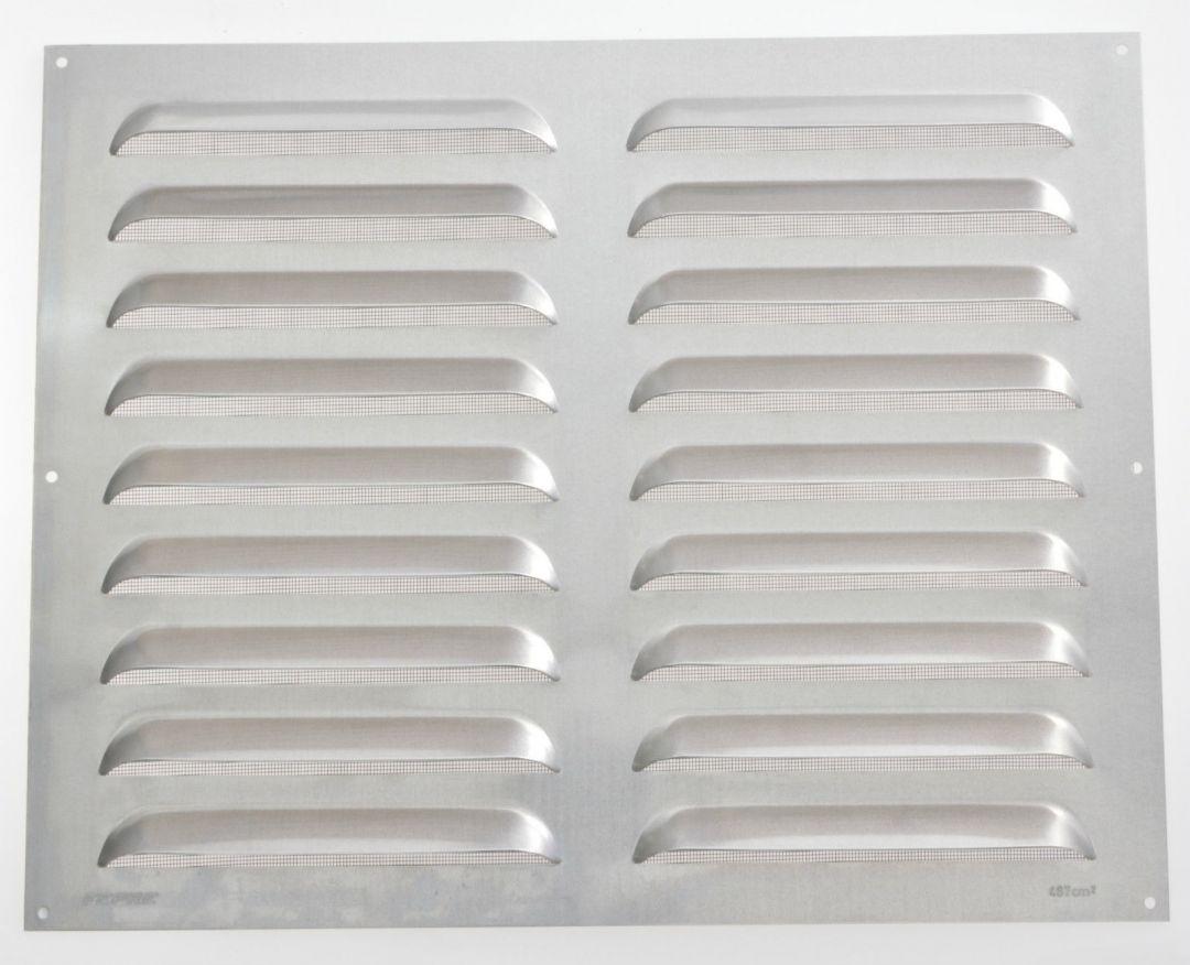 wetterschutzgitter lüftungsgitter aluminium natur/weiß fliegendraht