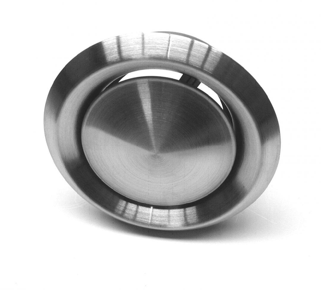 und Zuluftventil Zuluft Edelstahl Tellerventil 100,125,150,160,200 mm Abluft