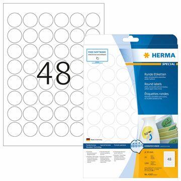 HERMA Universal Etiketten SPECIAL Durchmesser 30 mm weiß 1.200 Stück