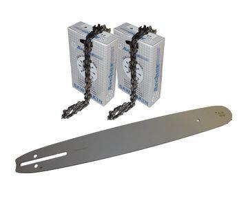 """Schwert 2 Ketten passend für Husqvarna 450 50 cm 325"""" 78 TG 1,5 mm Sägekette"""