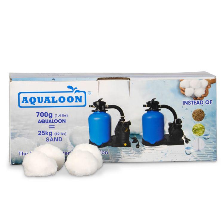 Aqualoon Filtermaterial Filtermedium statt Filtersand Filterglas Filterkartusche