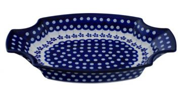 Pizzazeller groß Ø33,0 cm im Dekor 111 Original Bunzlauer Keramik Kuchenplatte