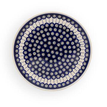 Original Bunzlauer Keramik Kuchenplatte Pizzazeller groß Ø33,0 cm im Dekor 42