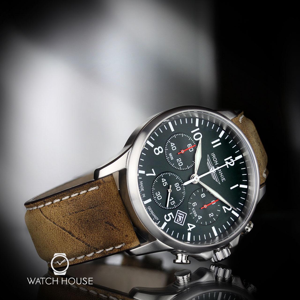 Zu Line Iron Details Herren Armbanduhr Annie Chronograph Captain's Serie 5872 4 rdsthQ