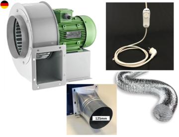 FLANSCH FLEXROHR Luftabsaugung Zentrifugal Gebläse Radialventilator REGLER