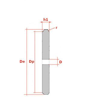 """08B 16 Zähne Kettenradscheibe simplex DIN 8187 1//2/"""" x 5//16/"""" 12,7x7,75 mm"""
