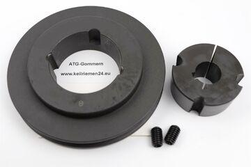 Keilriemenscheibe SPA 80mm 3-rillig mit Taperbuchse 1210 inkl Bohrung