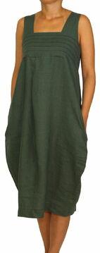 02b546c32f8 24098 PERANO Damen Frauen Leinen Kleid A-Form lang M L XL 2XL 3XL ...