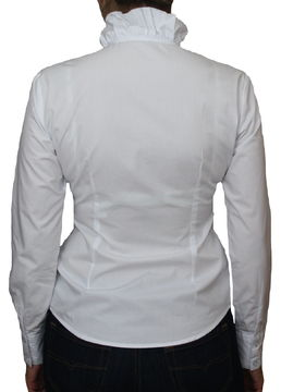 M XL Baumwolle Hemd PERANO Damen Rüschen Bluse L S Langarm neu!