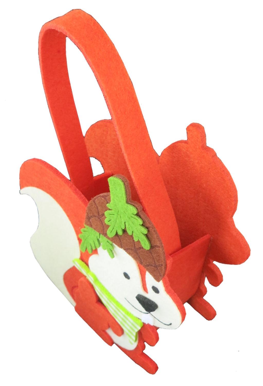 16x7x17cm neu wunderschöne Geschenketasche aus Filz mit  Weihnachtsmotiv