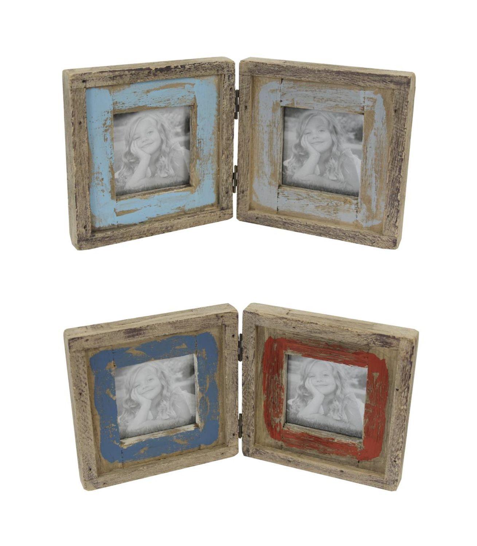 Holz Bilderrahmen für 2 Bilder - Fotorahmen shabby chic vontage | eBay