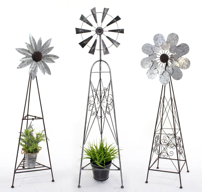 XXL Windspiel Sage Medaillon Windrad Metall Kinetic Garten Deko Terrasse Balkon