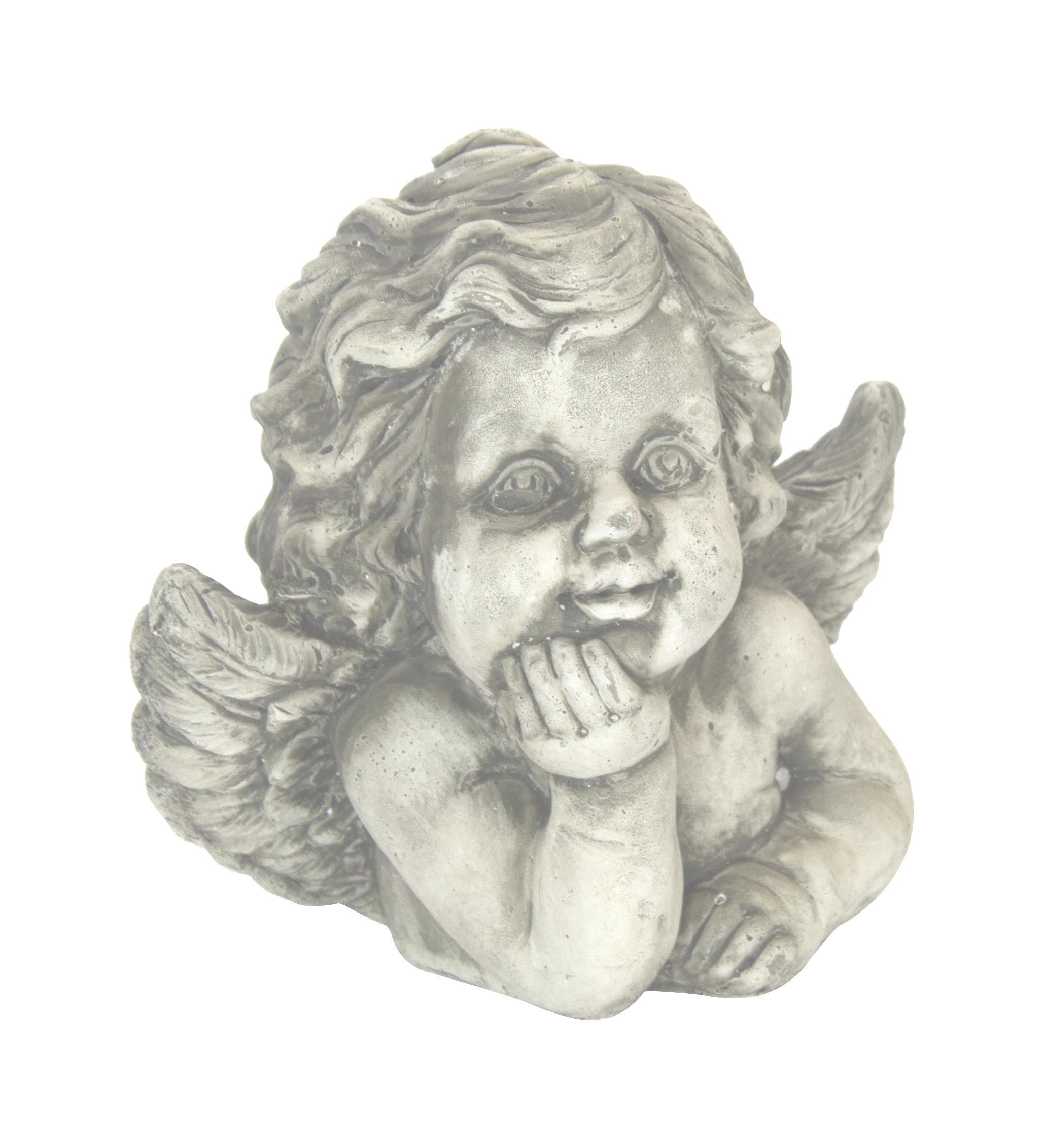 Decorative Angel Earthenware-Grave Angel Garden Figurine Gartendeko grabdeko