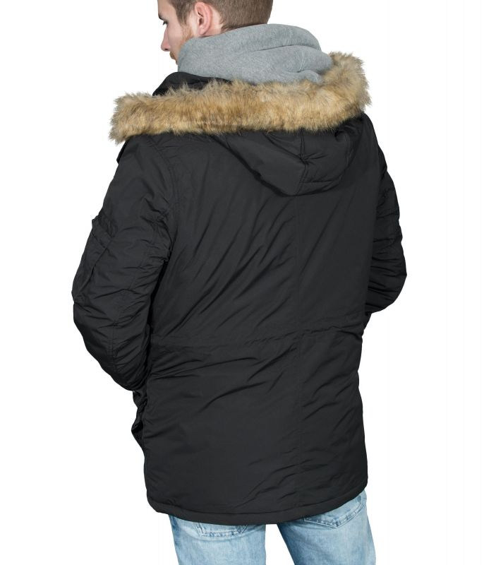 Original Betterstylz Lemolobz Mens Winter About Vegan ChefsFaux Parka Coat Details Show Fur Title Black 0w8nkOXP