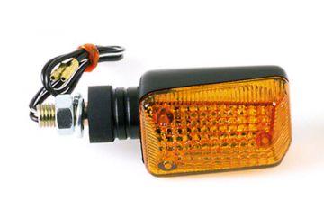 SHIN YO 202-223 Mini-Blinker oval schwarz kurzer Stiel Glas gelb