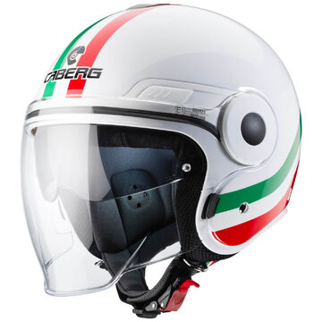 CASCO DA MOTO JET CABERG UPTOWN 2019 BIANCO LUCIDO TAGLIA M