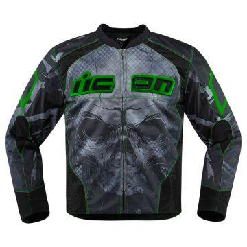cdde6113eb0 ICON Overlord segadora mens moto textil deportivo de chaqueta - negro verde