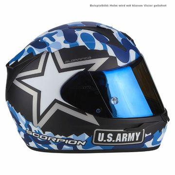 Noir//Bleu XL SCORPION Casque moto EXO 390 ARMY Noir mat Bleu