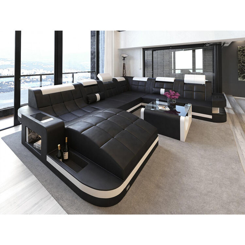 Sofa Dreams Wohnlandschaft Boras XL, Kunstleder, schwarz ...