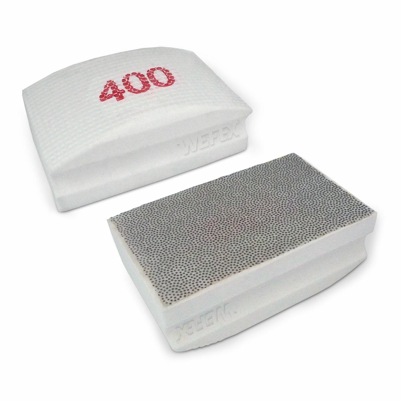 Diamant Handpad Schleifschwamm 400er Korn Natursteine Kunststeine Fliesenkanten