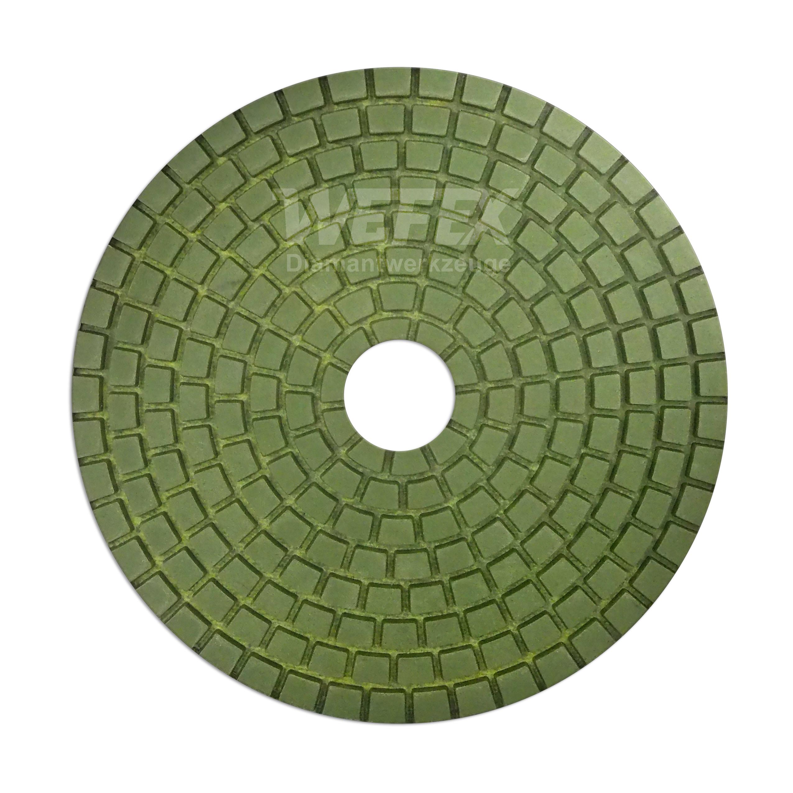 Diamant Schleifpad Naß 100 mm Granit Naturstein Marmor finishen Polierpad