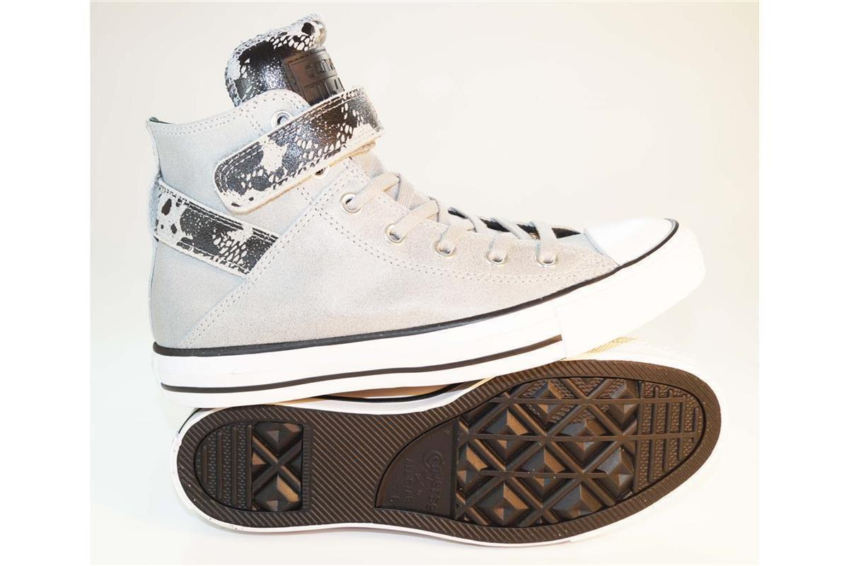 Details zu CONVERSE Brea & Hardware ALL STAR Classic HIGH Damen Schuhe Leder Chucks Trainer