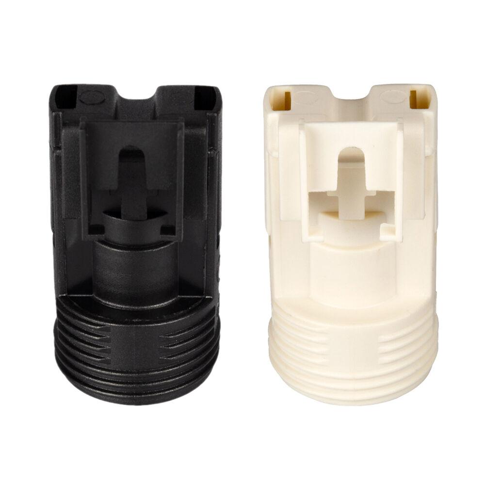 PBT E14 Lampenfassung Kunststoff Gewindefassung mit Einbauring Wei/ß 10 Stk.