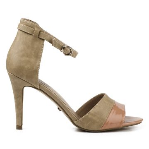 Pumps 312339 Heel Details Apricot Sandaletten Zu Damen Beige Buffalo High Sandalen Nude m8vNnOy0w