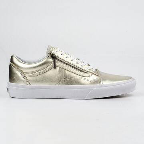 Details zu Vans Schuhe Damen Sneaker Old Skool Zip V18GIGY Gr 41 Metallic Wheat Gold Weiß