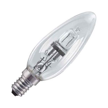 M-Light Halogen Leuchtmittel Birnenform 18W =25W E27 klar warmweiß 2900K dimmbar