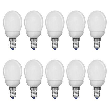 10 x Lightway ESL Leuchtmittel Energiesparlampe Tropfen 7W E14 290lm warmweiß