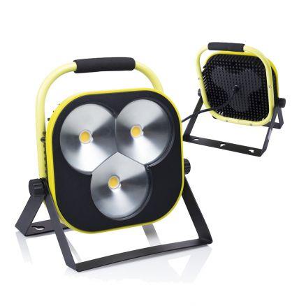 Led Projecteur De Chantier Lampe Travail 50w Jaune Noir A Pied Avec