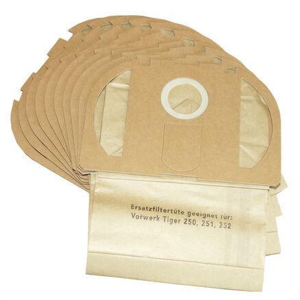 8 Sacchetti Polvere Filtro Sacchetti Sacchetto filtro Adatto per Vorwerk Tiger VT 250 251 252