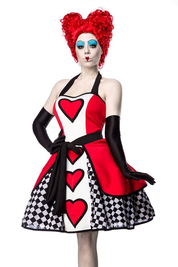 Sexy Queen Kostüm Alice Wunderland Kleid Herzkönigin Königin Herz
