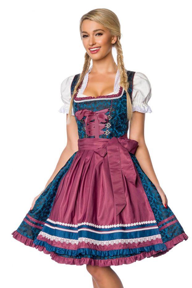 Damen Oktoberfest Trachten Kleider Übergröße Schürze Köstme Tracht Dirndl Dress