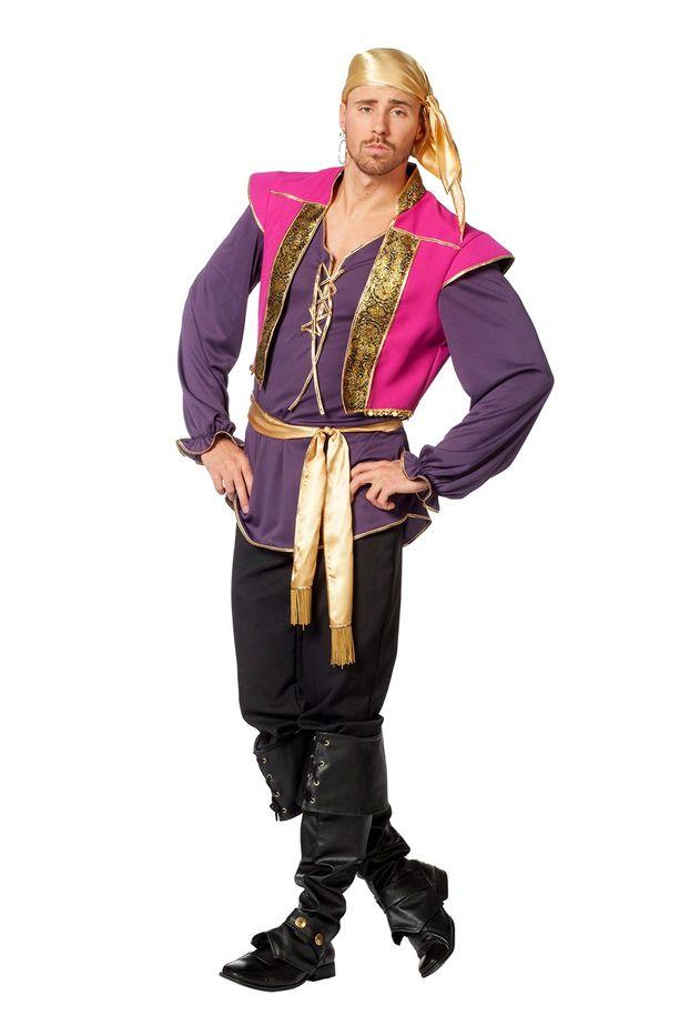 Herren Karneval Fasching Verkleidung Kostüm Steampunk Hemd beige NEU