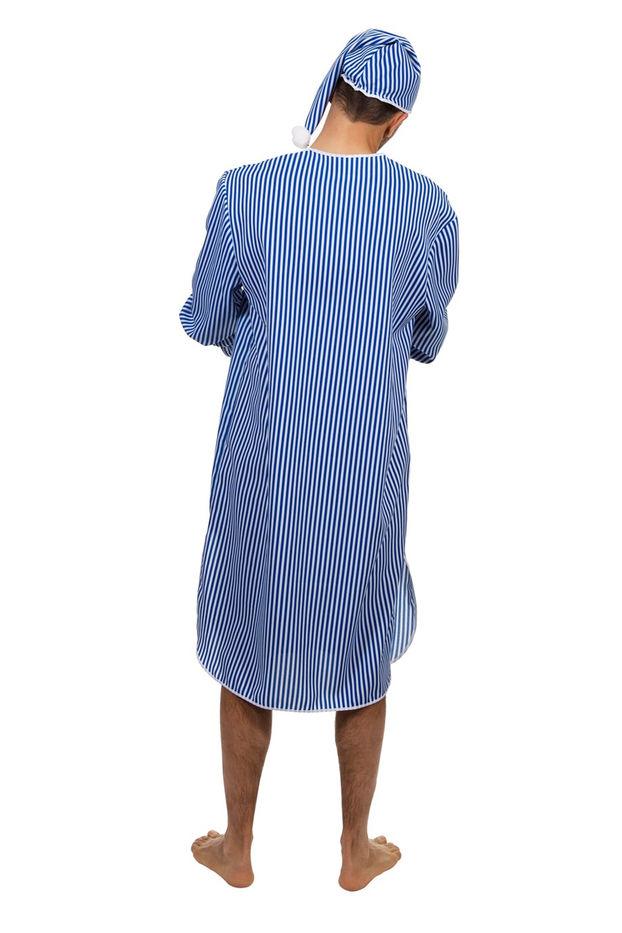 0c76534f19 Schlafwandler Kostüm Nachthemd Mütze Schlafanzug Träumer Pyjama Schlaf 50-60