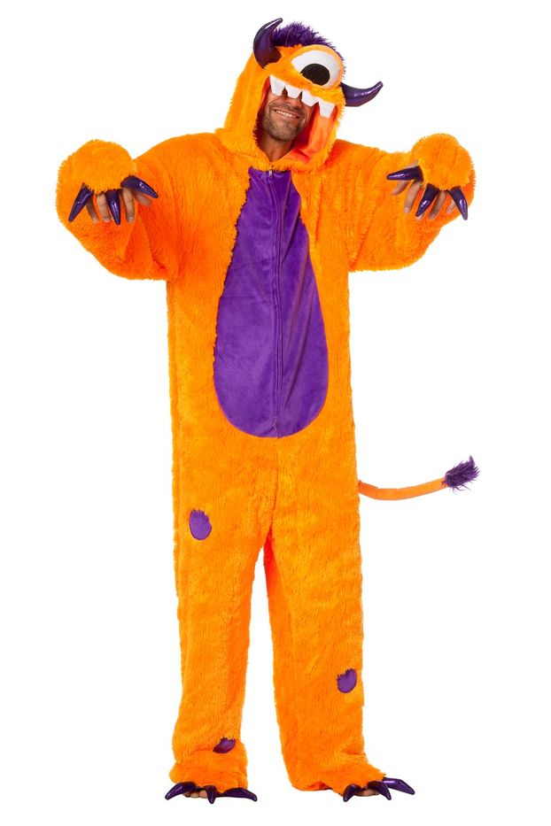 Monster Kostum Herrenkostume Herren Karneval Fasching Overall Orange