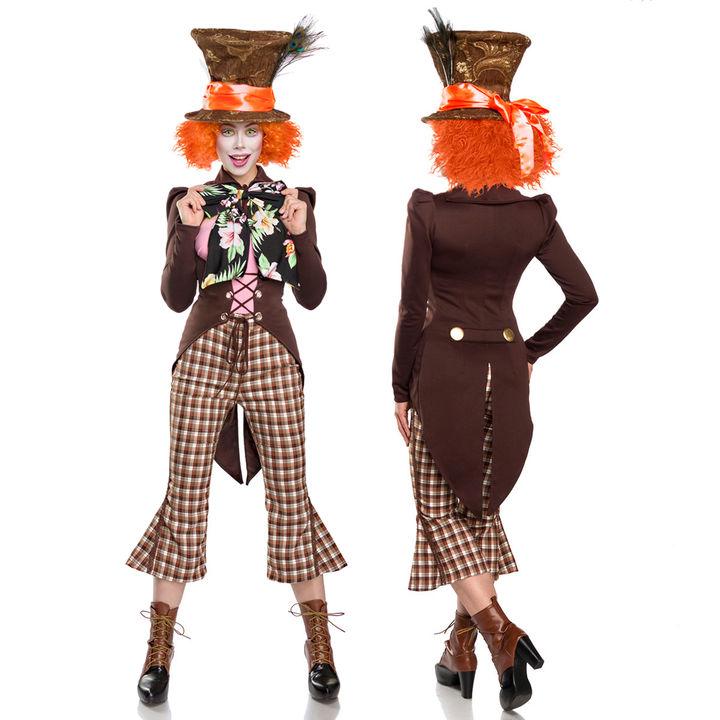9 Tlg Hutmacher Kostum Alice Wunderland Mad Crazy Hatter Damen