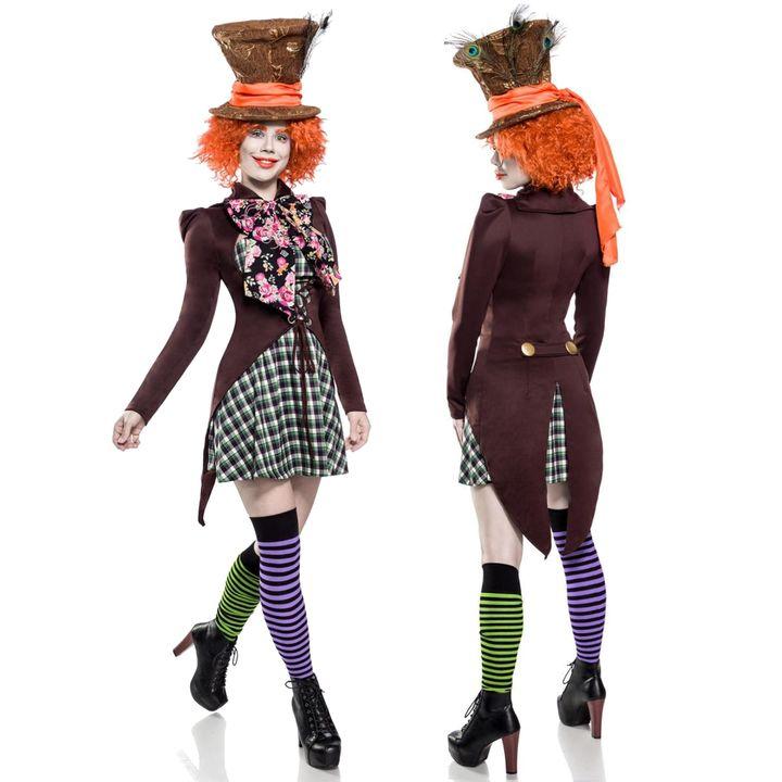 Verruckter Hutmacher Damen Kostum Damenkostum Crazy Hatter Karneval