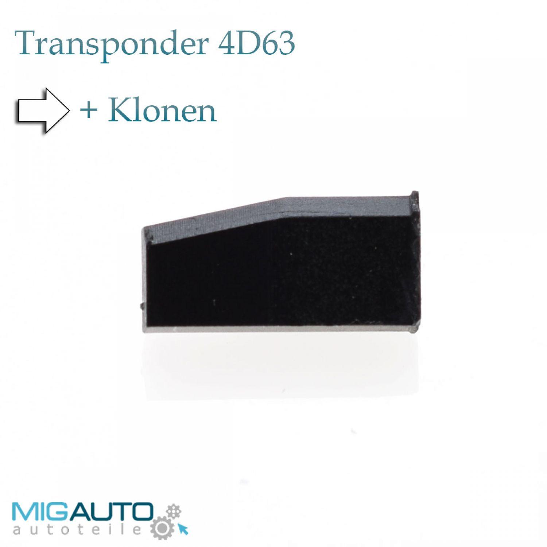 Transponder Chip Mazda Ford 4D63 4D 63 Focus Fiesta Galaxy + Klonen ...