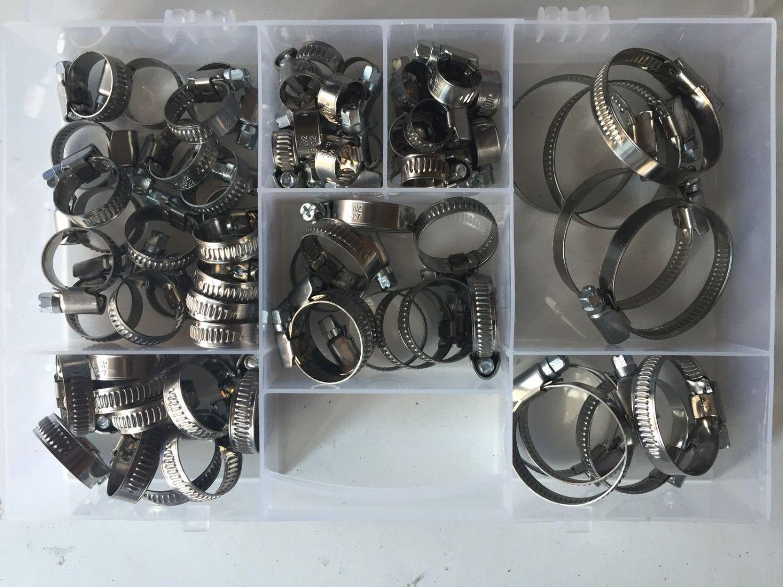 50 x Schlauchschellen Klemmschellen Edelstahl W2 8-60mm Sortiment DIN 3017