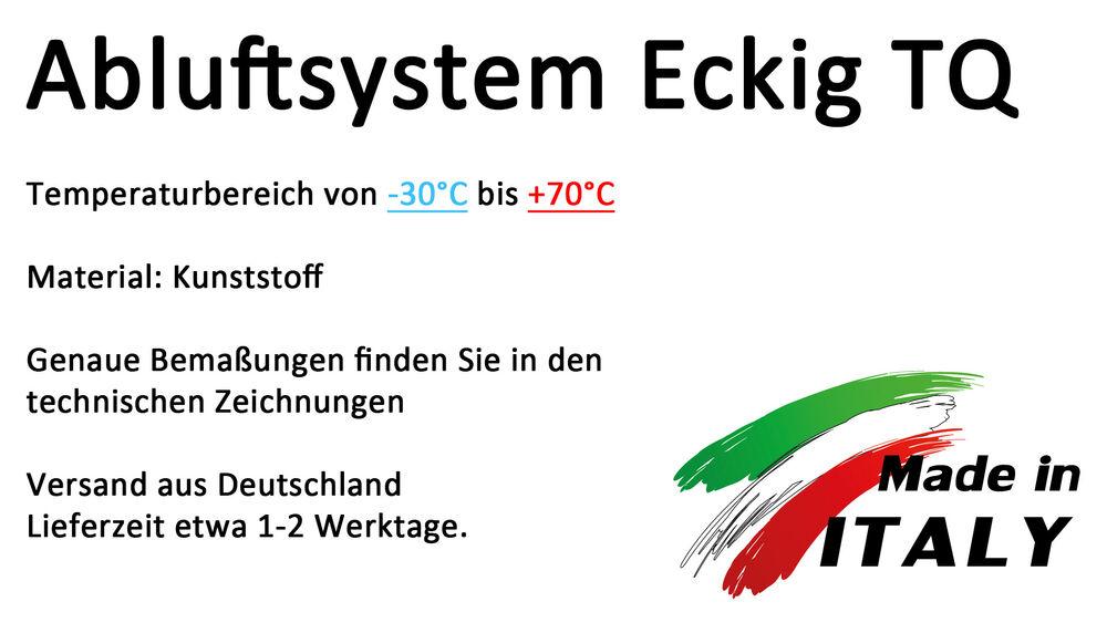 Kniest/ück Hoher Bogen//KurveCAR f/ür rechteckiges Abluftrohr 60x204mm Flachkanal Kanal