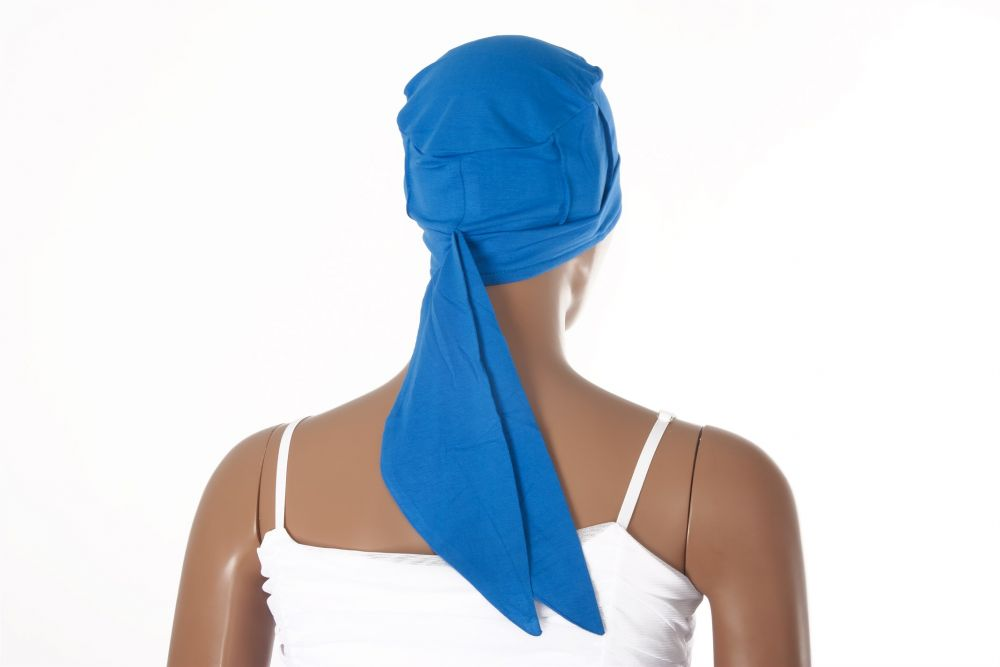 Chemo Cap Tuch Mütze statt Perücke GTC Ladieshair Turban Bambusfaser Grün Weiß