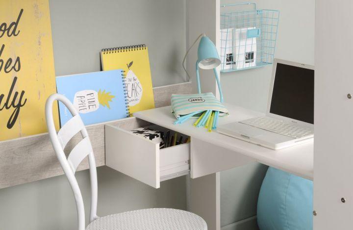 hochbett 90 x 200 cm mit integriertem kleiderschrank schreibtisch und regal m 24 ebay. Black Bedroom Furniture Sets. Home Design Ideas